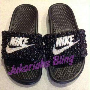 Bling Nike Slides